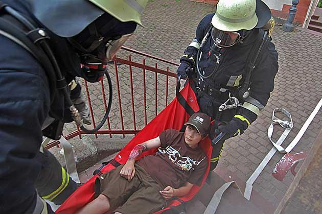 Großübung der Freiwilligen Feuerwehr Thulba
