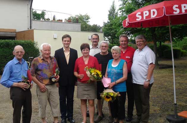 Ehrungen bei der SPD Geldersheim