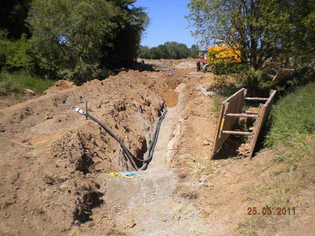 Neubau Wasserleitungstrasse Thulba-Reith