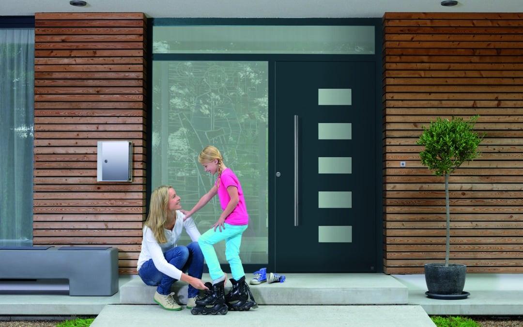 Aluminium-Haustüren verbinden Einbruchhemmung mit guter Wärmedämmung