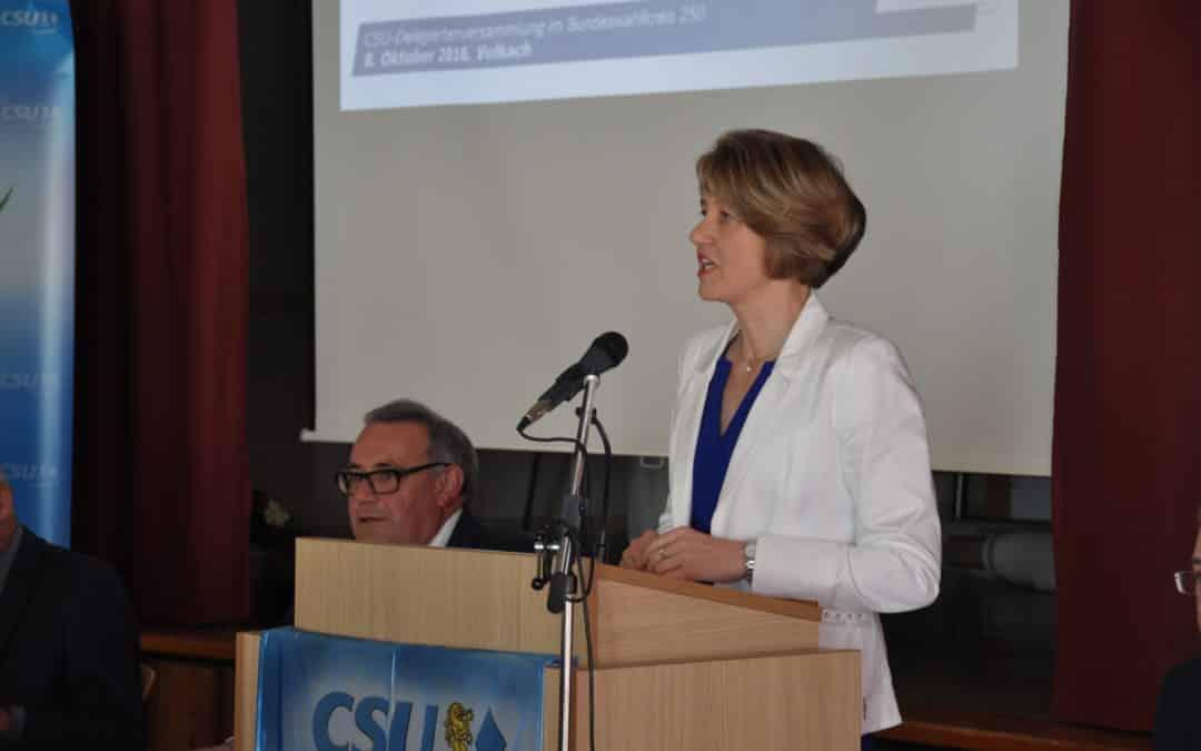 Bundestagswahl 2017: CSU nominiert erneut Anja Weisgerber