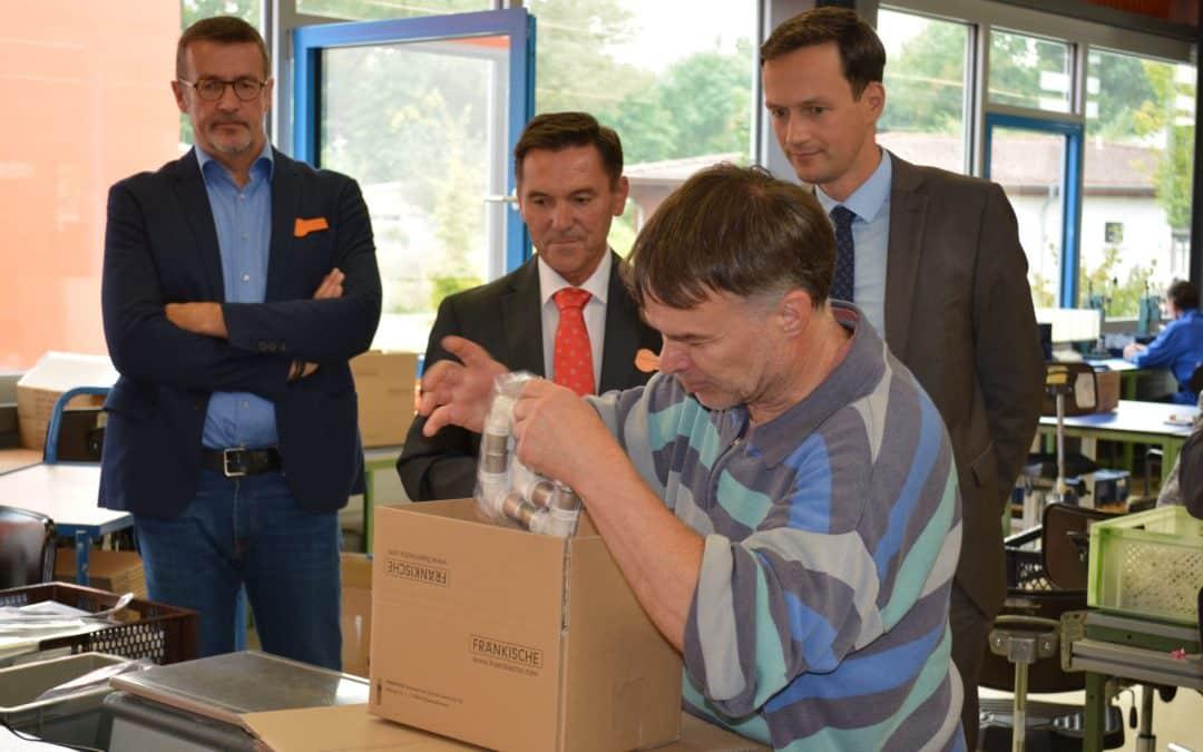 Landrat besuchte die Werkstatt für behinderte Menschen in Sennfeld