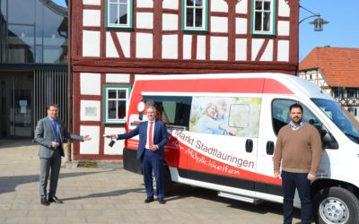 Mit dem Bürgerbus mobil: Sparkasse Schweinfurt-Haßberge spendet für Bürgerbus