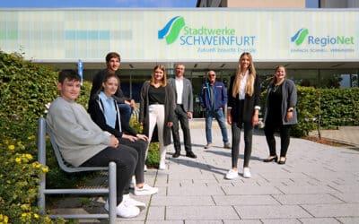 Ausbildungsstart für vier Auszubildende bei den Stadtwerken Schweinfurt