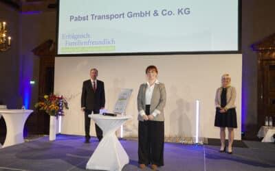 Pabst Transport wird vom Bayr. Staatsministerium als familienfreundliches Unternehmen ausgezeichnet